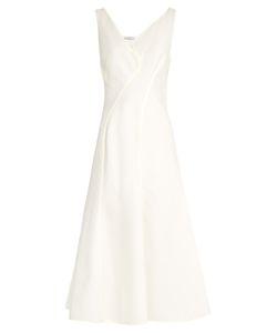 Mugler | V-Neck Abstract-Panel Cotton Dress