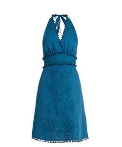 TALITHA | -Embroide Cut-Out Halterneck Cotton Dress
