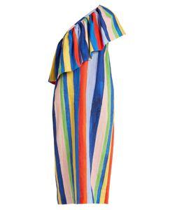 Mara Hoffman | Rainbow Watercolour Stripe-Print Linen Dress