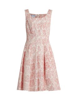 Oscar de la Renta | Pleatedprint Cloqué Dress