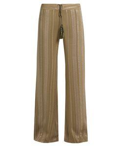 ZEUS + DIONE | Alcestes Geometric-Jacquard Silk-Blend Trousers