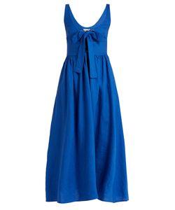 Mara Hoffman | Lace-Up Midi Linen Dress