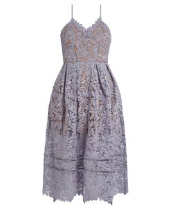 SELF-PORTRAIT | Laelia Lace Midi Dress