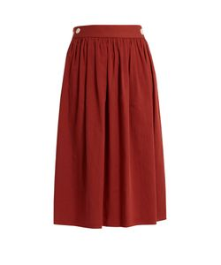 LOUP CHARMANT | Side Button Cotton Skirt