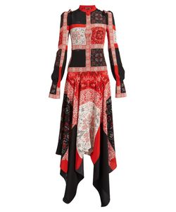Alexander McQueen | Cross Stitch-Print Crepe De Chine Dress