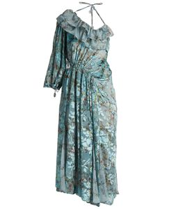 Preen By Thornton Bregazzi | William Flower-Print Silk-Blend Devoré Dress