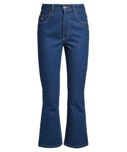 ATTICO | High-Rise Kick-Flare Cropped Jeans