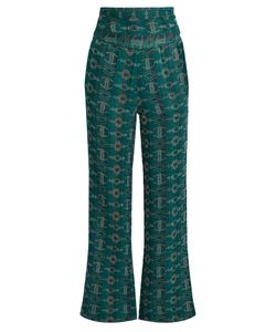 ACE & JIG | Dancin Embroidered Wide-Leg Cotton-Blend Trousers