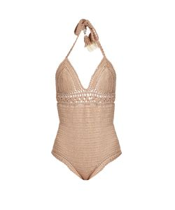 SHE MADE ME | Farah Halterneck Crochet Swimsuit