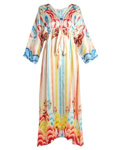Temperley London | Nymph Abstract-Print Silk Dress