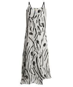 Diane Von Furstenberg | Chatham-Print V-Neck Sleeveless Silk Dress