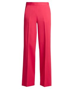 Oscar de la Renta | High-Rise Wide-Leg Stretch-Cady Trousers