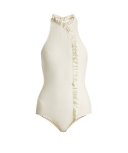 MADE BY DAWN | Jeanie Ruffle-Trimmed Swimsuit