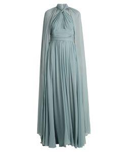Elie Saab | Halterneck Cape-Detail Silk Gown