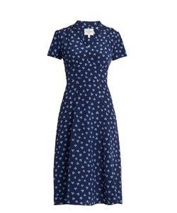 HVN | Morgan Lucky Clover-Print Silk Dress