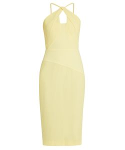 Roland Mouret | Mervyn Chevron-Embroidered Crinkled-Crepe Dress