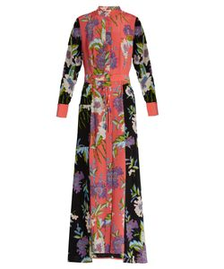 Diane Von Furstenberg | Contrast-Panel Silk Crepe De Chine Dress