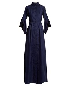 PALMER/HARDING | Flounce-Sleeve Cotton Dress