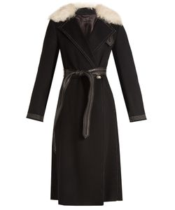 Helmut Lang | Shearling-Trimmed Wool And Cashmere-Blend Coat