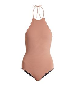 Marysia Swim | Mott Scallop-Edged Reversible Swimsuit