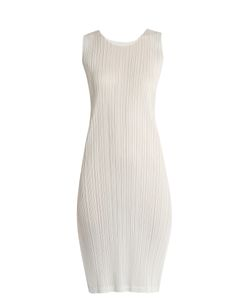 PLEATS PLEASE BY ISSEY MIYAKE   Sleeveless Pleated Dress