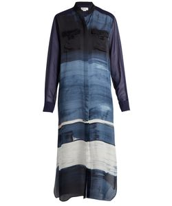 Amanda Wakeley | Painterly Silk-Satin Shirtdress