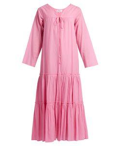 A PIECE APART | Atlas Tiers Long-Sleeved Cotton Maxi Dress