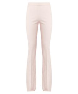 Giambattista Valli | High-Rise Fla Cotton And Silk-Blend Trousers