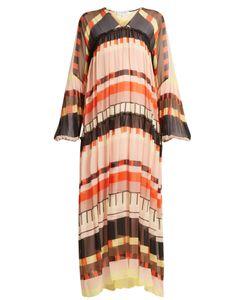 A PIECE APART | Ceuta-Print Long Silk Dress