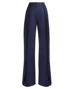 PALMER/HARDING | Side-Slit Wide-Leg Trousers