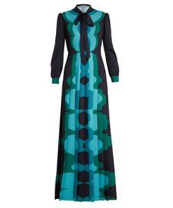 Mary Katrantzou | Duritz Long-Sleeved Crepe De Chine Gown