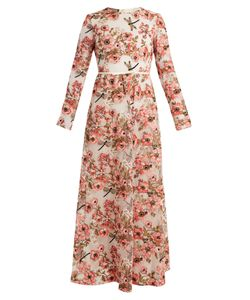 Giambattista Valli | Anemone-Embroidered Long-Sleeved Dress