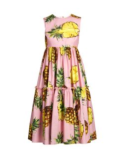 Dolce & Gabbana | Pineapple-Print Tie Poplin Dress