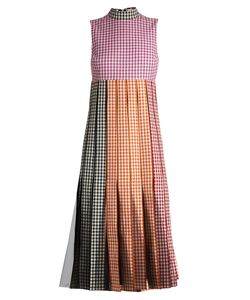 Christopher Kane | Tulle-Insert Gingham Cotton Dress