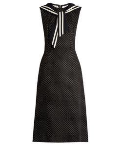 Dolce & Gabbana | Point-Collar Polka-Dot Print Dress