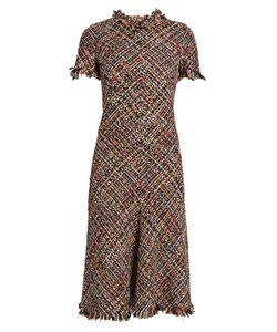 Alexander McQueen   Fringed-Edge Tweed Dress