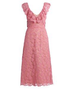 Miu Miu | Heart-Macramé Lace Midi Dress