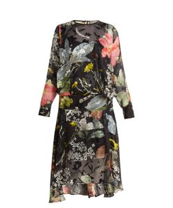 Preen By Thornton Bregazzi | Hayley Print Silk-Devoré Dress
