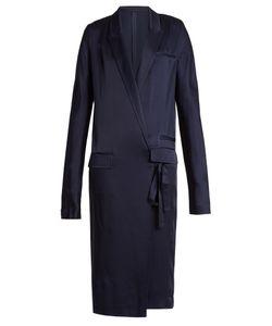 Haider Ackermann | Kuiper Peak Lapel Tie-Waist Satin Dress