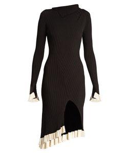 ESTEBAN CORTAZAR | Funnel-Neck Ribbed-Knit Dress