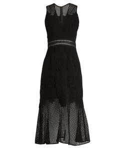 Jonathan Simkhai | Fluted-Hem Sleeveless Lace Dress