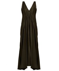 KALITA | Clemence Cotton And Silk-Blend Maxi Dress