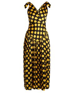 Duro Olowu | Large Polka-Dot Print Silk-Satin Gown