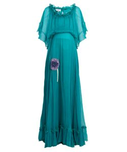 Luisa Beccaria | Bead-Embellished Silk-Georgette Dress