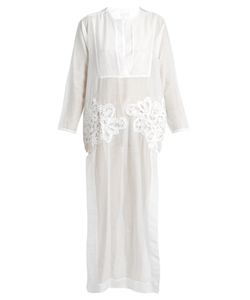 Lila Eugenie | 1716embroide Cotton-Blend Voile Kaftan