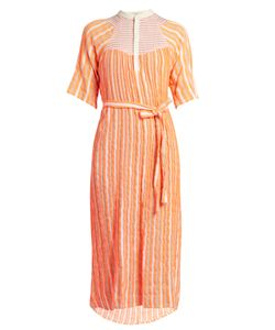 ACE & JIG | Bronte Striped Jacquard Midi Dress