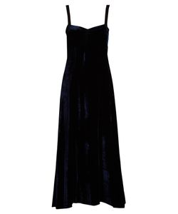 Masscob | Grosgrain-Trimmed Velvet Maxi Dress