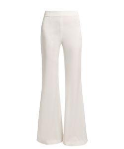 GALVAN | Palacio High-Rise Wide-Leg Satin Trousers
