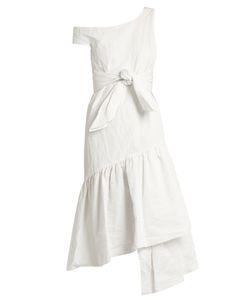 Isa Arfen | Asymmetric Ruffled-Panel Cotton-Blend Dress