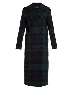 Burberry | Double-Breasted Tartan Wool-Blend Coat